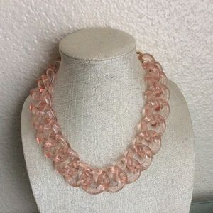 J.Crew Lucite Pink Necklace